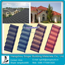 2015 Nigeria Cheap Price&High Quality Sand Coated Metal Roofing Tiles