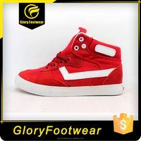 New High cut hot selling cow suede upper canvas shoe for girls'