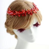 elegant bridal wedding floral hair headband resin flower crown bridal flower headband
