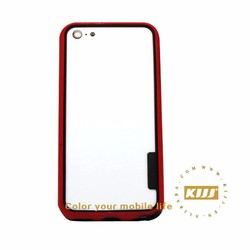 4 inch Bumper PC TPU phone case for iphone 5C