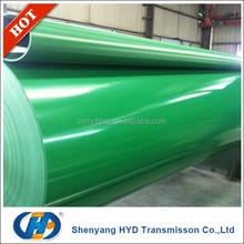 1.5MM thickness light duty green pvc covneyor belt price