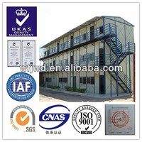 3 stories prefab house boarding rooms SGS certificated temporary building