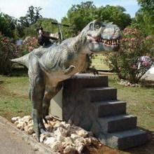 Hot sale amusement park t-rex animatronic dinosaur rides