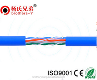 23AWG bare copper UTP CAT6 cable, 4 pair twist with OEM price