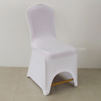 Four-side stretchable leather pocket chair cover lycra chair cover for wedding