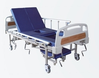 Hospital Furniture 5 function ABS HEAD AND FOOT BED BOARD manual hospital bed with mattress and commode bucket