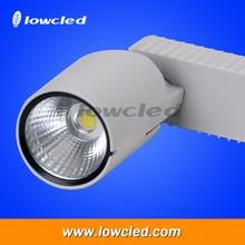 Black/white track light fixture 30 watt 15 watt 20 watt 40W high power led track light for Jewelry,cloth shop,fashionable