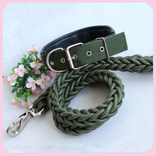 Good Cost&Quality Nylon Braided Dog Leashes and Soft Collar Large Size
