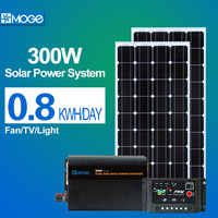 Moge 300w portable off grid solar power generator system 220v with best price standard configuration