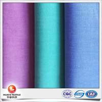 yarn dyed 100 cotton chambray fabric for shirt