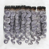 grey brazilian hair extensions,gray hair weave virgin grey human hair weaving