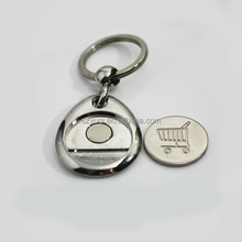 promotional custom coin die casting magnet metal keychain