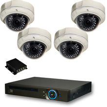 4Ch CCTV POE NVR kits with 4pcs 1080P IP Dome Cameras 8ch NVR 2T HDD POE Switch