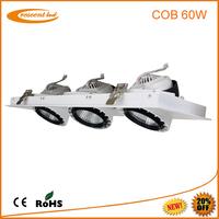 High power cob led downlight recessed adjustable 60W LED Shoplighter,High CRI epistar cob led downlights for commercial lighting