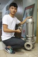 three phase water pump motor price list non-clog sewage submersible pump