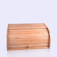 Hot selling high quality kitchen bamboo bread storage box