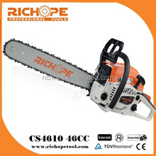 46cc gasoline chainsaw with 2-stroke engine and oregon chain and walbro carburetor for wholesale