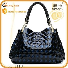 Guangzhou factory high quality croco ladies hobo bag genuine leather handbag wholesale
