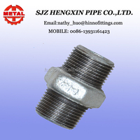 malleable cast iron pipe and fittings hexagonal nipple
