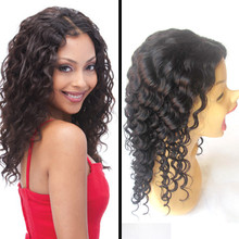 High quality golden supplierHigh quality golden supplier reliable supplier 1#b curly wave full lace human hair wig