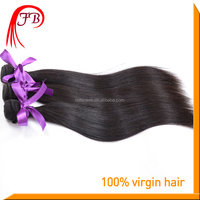 Unprocessed natural color human hair weft,8-30 inches brazilian silky straight wave hair