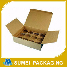 Customized giant 12 cupcake cardboard paper box for wholesale