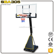 high quality portable acrylic basketball backboard with stand