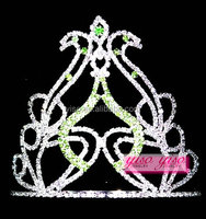 fresh green jewelry natural diamond sapphire flower girls tiara