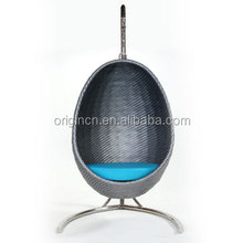 2015 classic design egg shape outdoor rattan swing chair