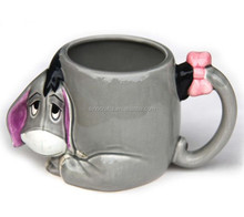 OEM factory directly unique design kids ceramic 3D animal mug