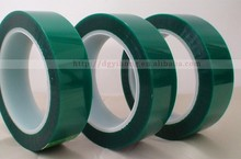 heat resistance insulation green pet adhesive eletrical tape widely used for PCB production
