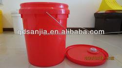 plastic buckets for food packaging round liquid 20L bucket Packaging Bucket