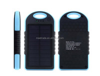 Power bank external battery charger 5000mAh Solar polymer battery Dual USB universal for mobile Phone