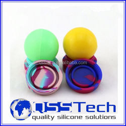 High quality 7ml customized small bath silicone sealant/ oil dab wax container/ silicone wax and oil container