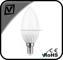 5w e14 bayonet led candle light lamp,replace CFL bulb,cold white 6000K