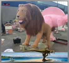 Life size animatronic robot animal lion