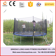 Biggest outdoor cheap trampoline with enclosure net and trampoline tool