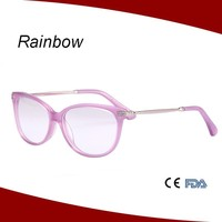 Wholesale Full Rim Thin Temple Small fancy acetate Glasses frame china optical eyeglasses