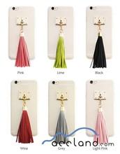 2015 New Hot item Transparent Tassel Mobile Phone Hard Case Accessories for iPhone 6 6plus