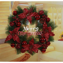 Wholesale Christmas decorations, Christmas tree garland accessories, Christmas flowers large wreath
