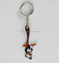 fashionable new design eco-friendly pvc cheap key chains/promotional gift key chains