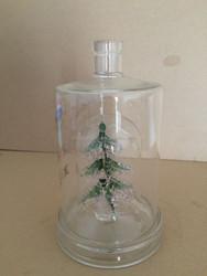 christmas tree shaped glass bottle vodka