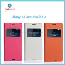 new arrivel high quality wholesale leather flip cover mobile phone case for sony xperia e3