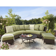 ECO friendly Thornquist 5-Piece garden sector sectional seating set miami rattan furniture