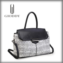 Luxury Grey Elegant Design Leather Bag,Women Genuine Leather Lady Fashion Bag