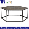 Recycle Pine Iron Interdiction Jointing Dining Table,Dark Finish Dining Table,Antique Wood Dining Table