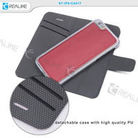 Smart design 3 in 1 magnetic detachable phone cover for iphone 6 case