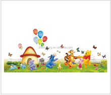 (N50) [XXL] cartoon Winnie bear kid wall sticker for baby room, home decoration