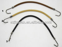 ponytail bands with hooks for hair/hair elastic hook/bungee band hook