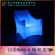 LED Illuminated Outdoor Bar Furniture/16 Colors Waterproof Lounge Bed/Night Club Lounge Chair for Sale